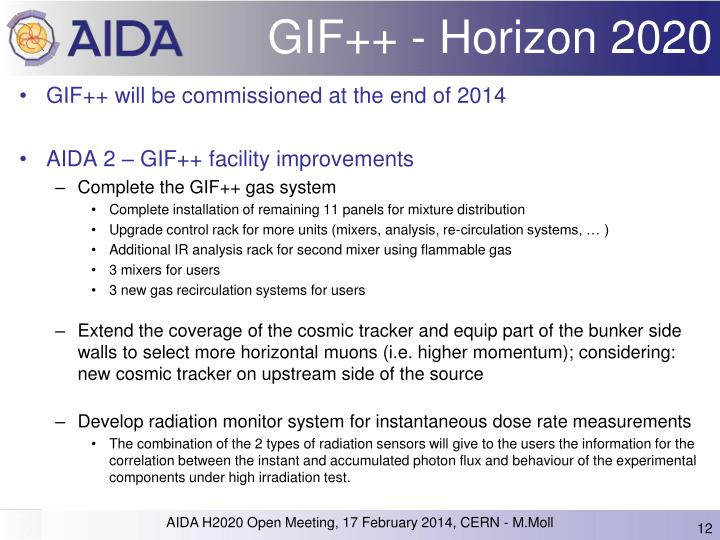 GIF++ - Horizon 2020