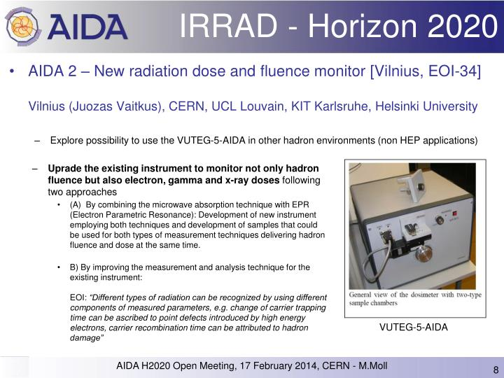 IRRAD - Horizon 2020