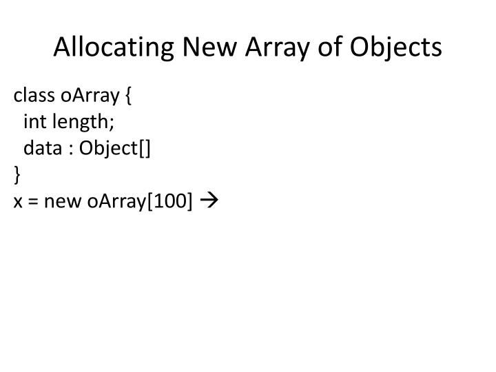 Allocating New Array of Objects