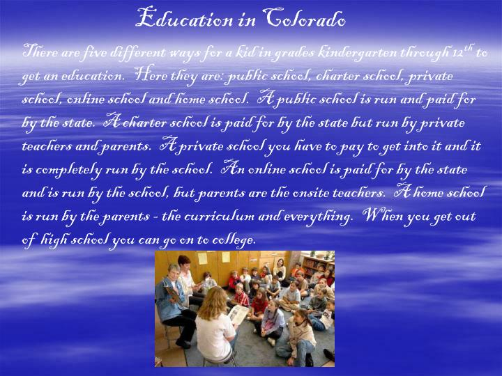 Education in Colorado