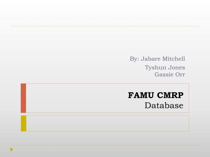 FAMU CMRP