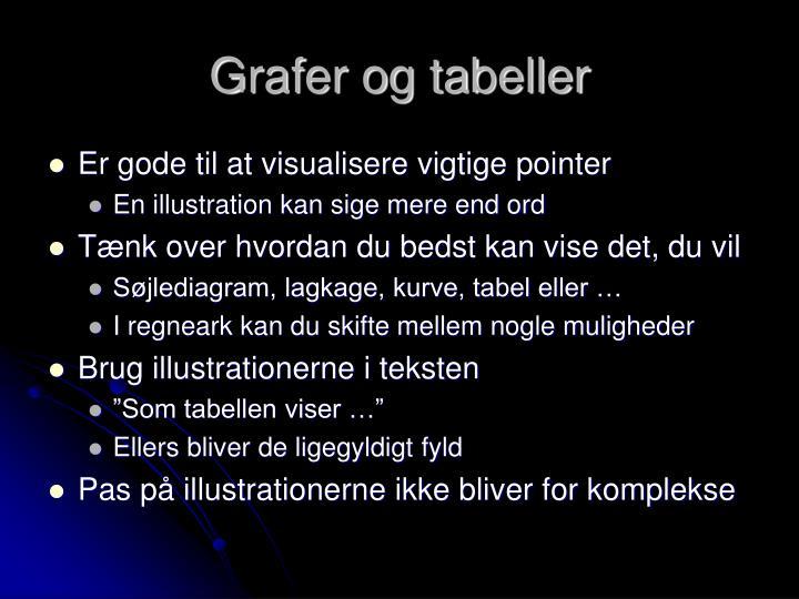Grafer og tabeller