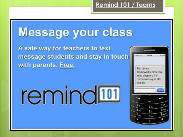 Remind 101 / Teams