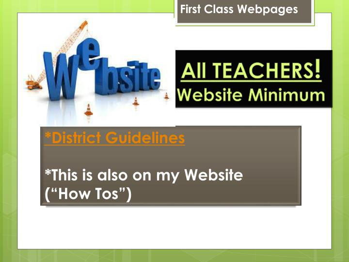 First Class Webpages