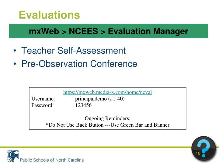 mxWeb > NCEES > Evaluation Manager