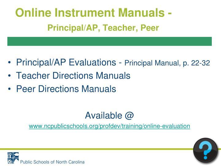 Online Instrument Manuals -