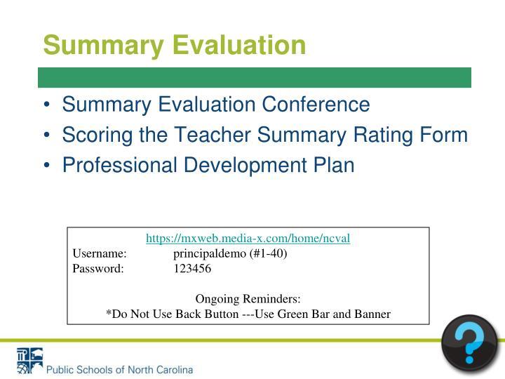 Summary Evaluation