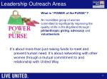 leadership outreach areas