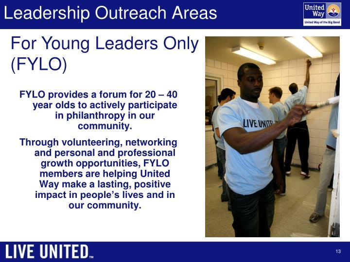Leadership Outreach Areas