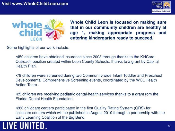 Visit www.WholeChildLeon.com