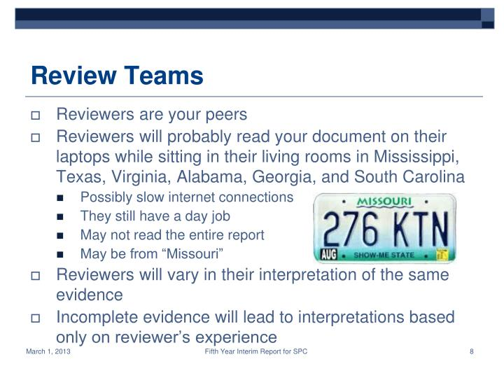 Review Teams