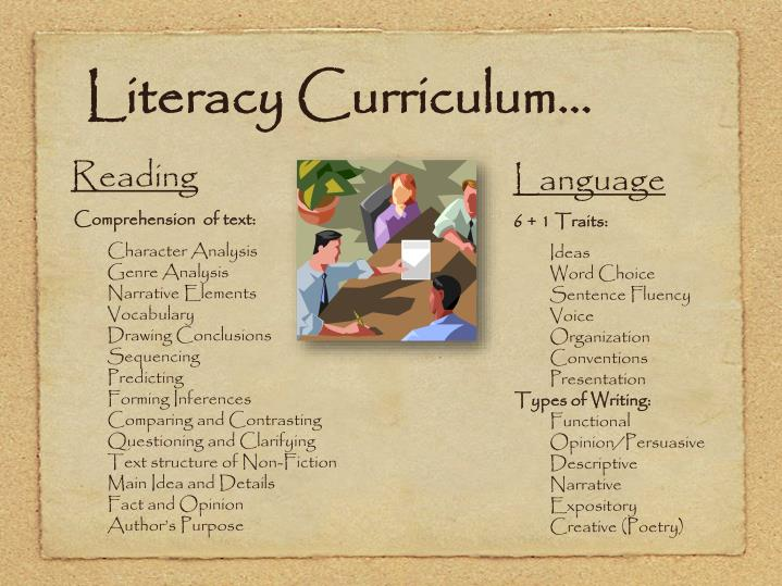 Literacy Curriculum...