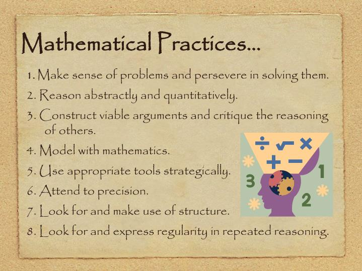 Mathematical Practices…