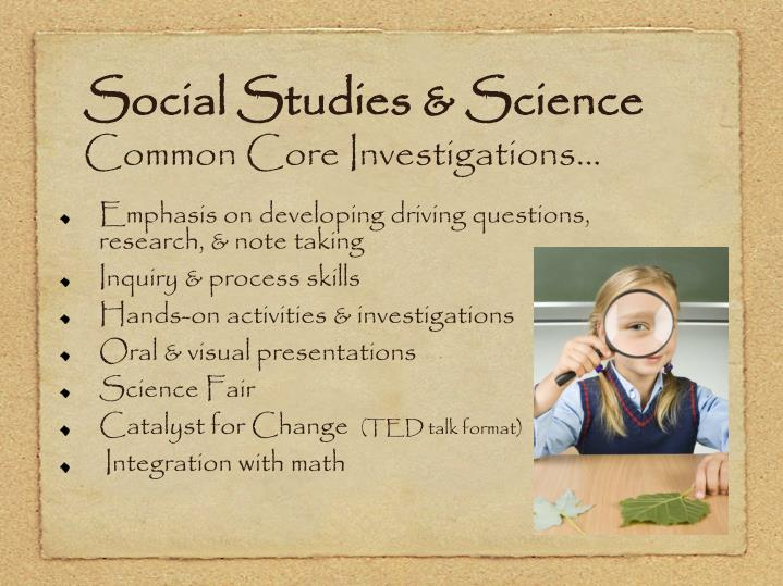 Social Studies & Science
