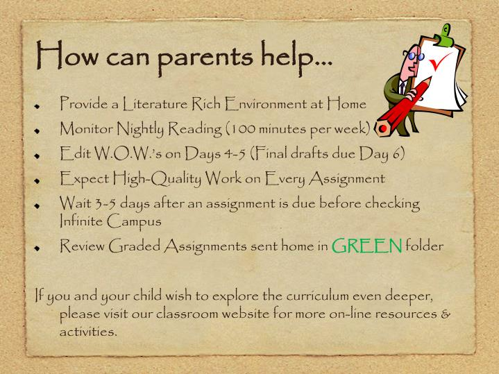 How can parents help…