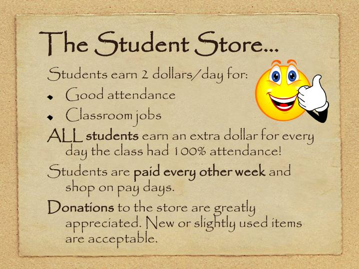 The Student Store…
