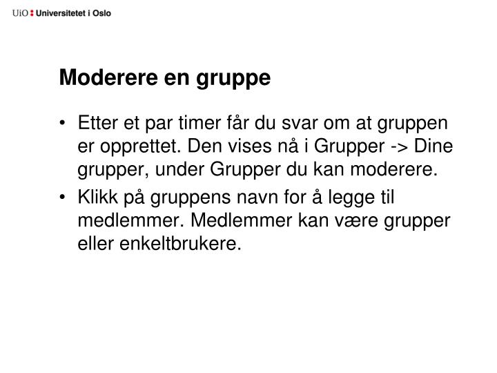 Moderere en gruppe