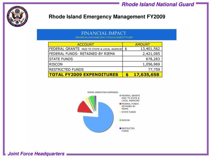 Rhode Island Emergency Management FY2009
