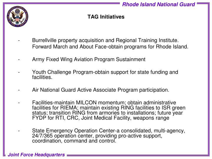 -Burrellville property acquisition and Regional Training Institute.