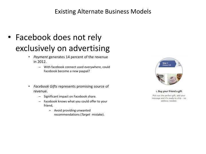 Existing Alternate Business Models