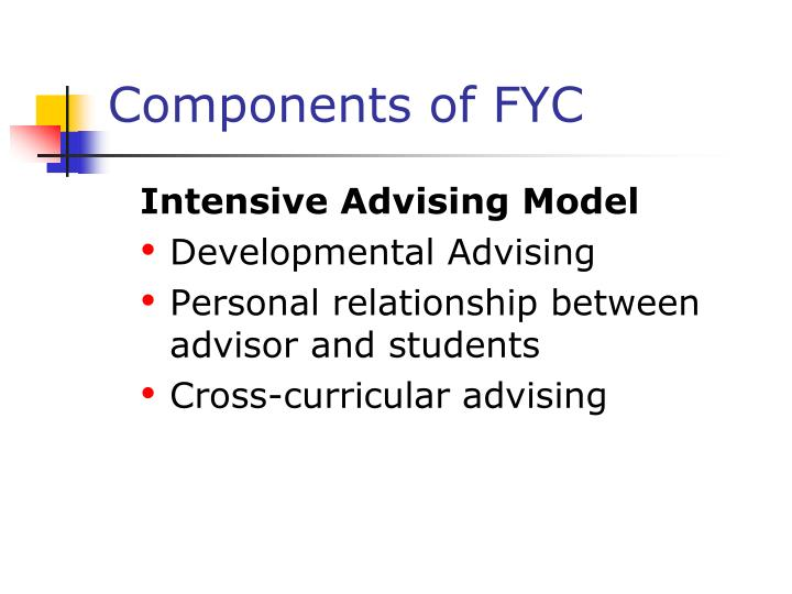 Components of FYC