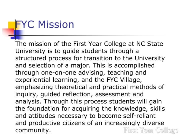 FYC Mission