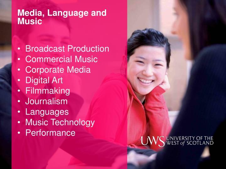 Media, Language and Music
