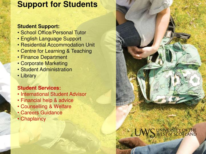 Support for Students