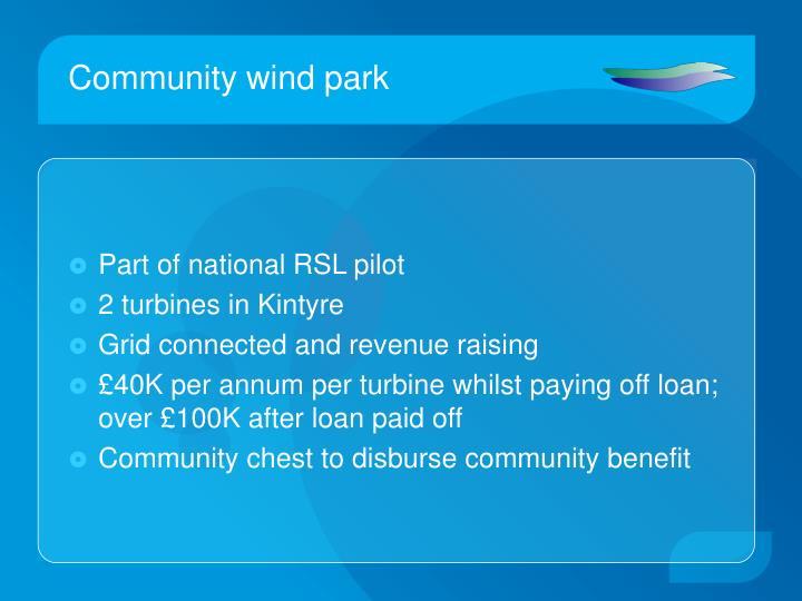 Community wind park