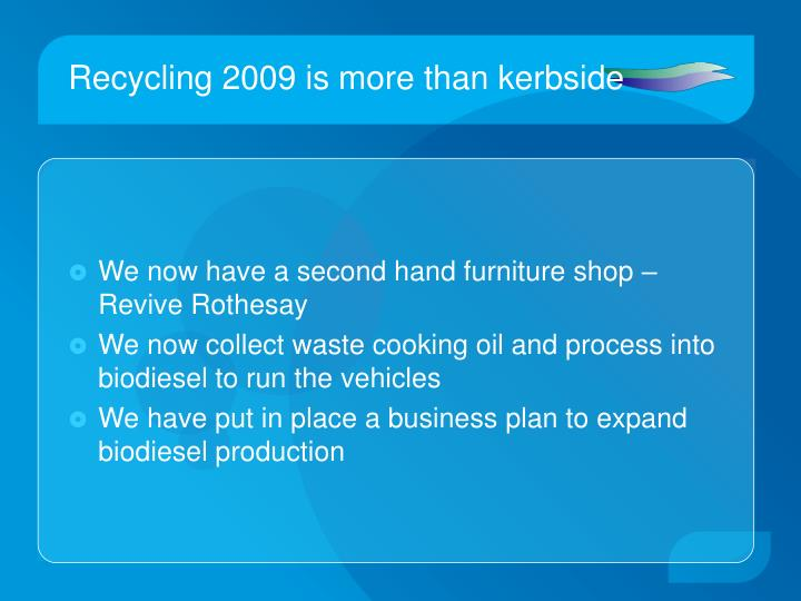 Recycling 2009 is more than kerbside