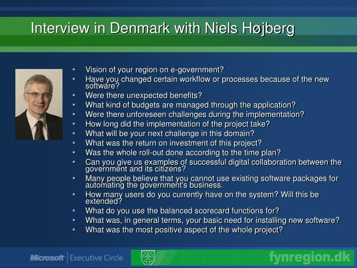 Interview in Denmark with Niels Højberg