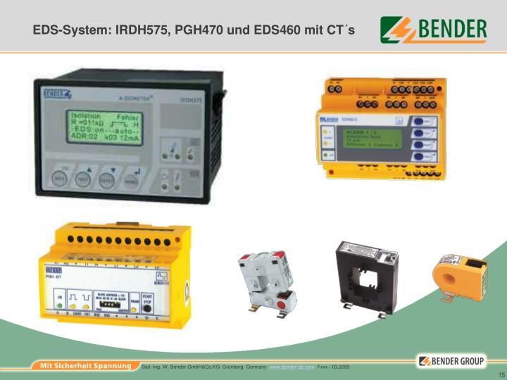 EDS-System: IRDH575, PGH470 und EDS460 mit CT´s