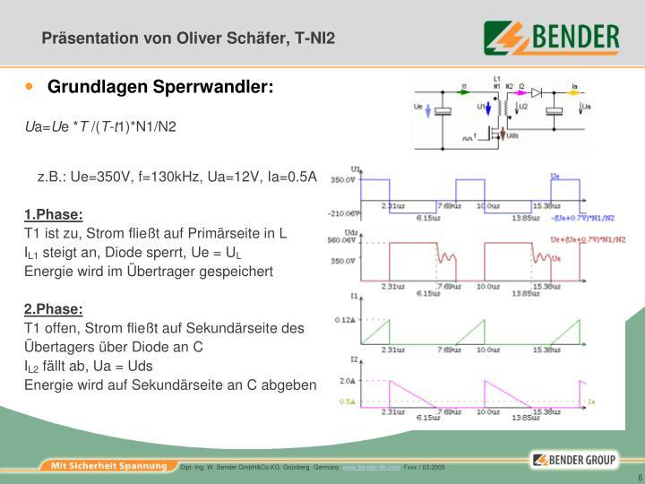 Präsentation von Oliver Schäfer, T-NI2