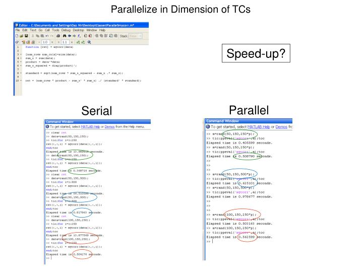 Parallelize in Dimension of TCs