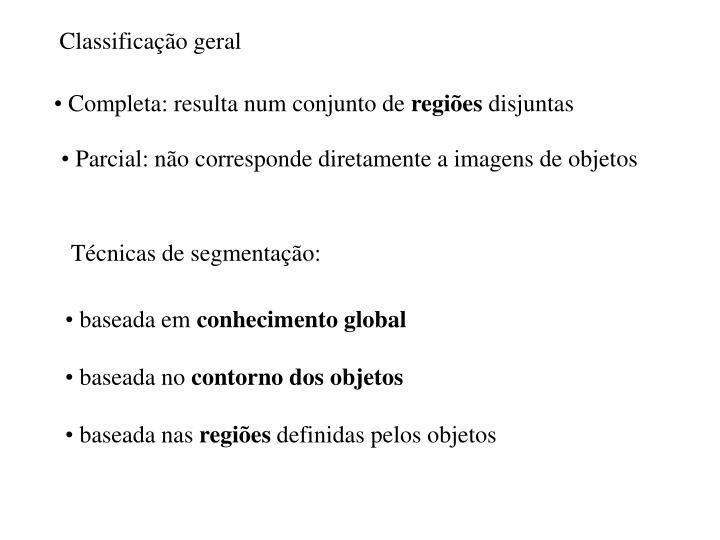 Classificação geral