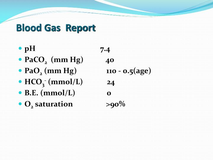 Blood Gas  Report