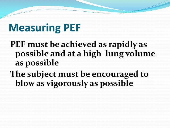 Measuring PEF