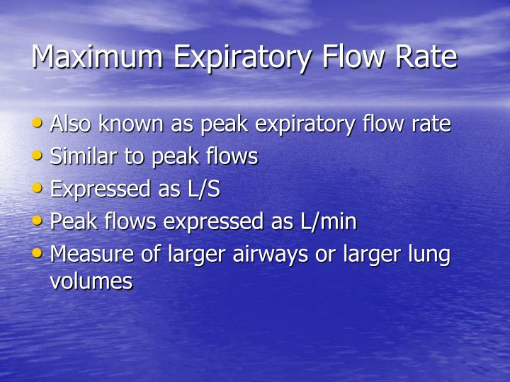 Maximum Expiratory Flow Rate