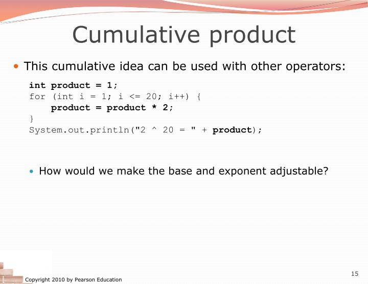 Cumulative product