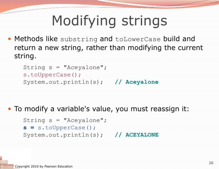 Modifying strings