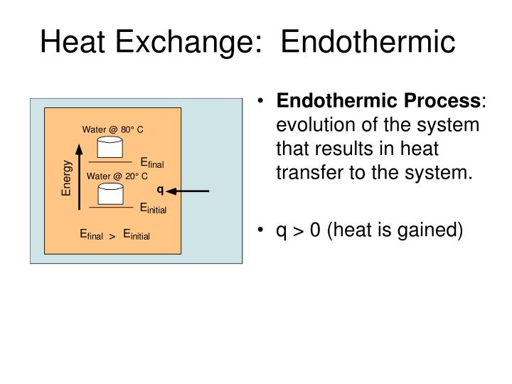 Heat Exchange:  Endothermic