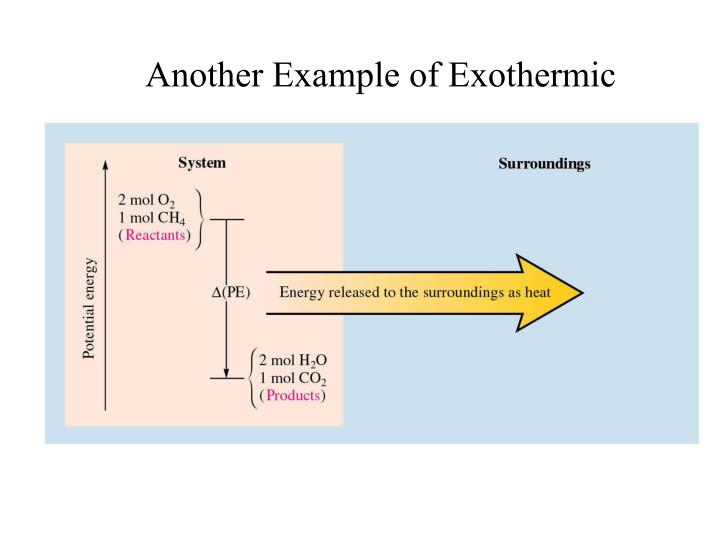 Another Example of Exothermic