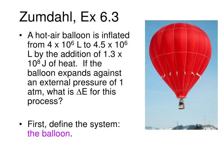 Zumdahl, Ex 6.3