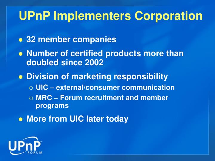 UPnP Implementers Corporation