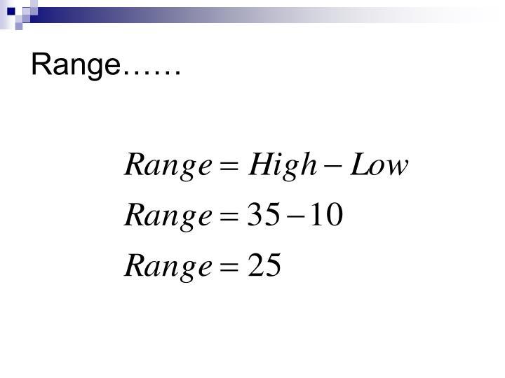 Range……