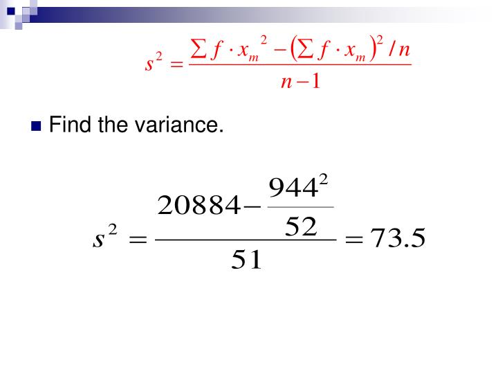 Find the variance.