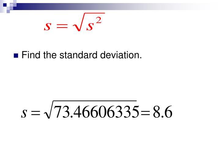 Find the standard deviation.