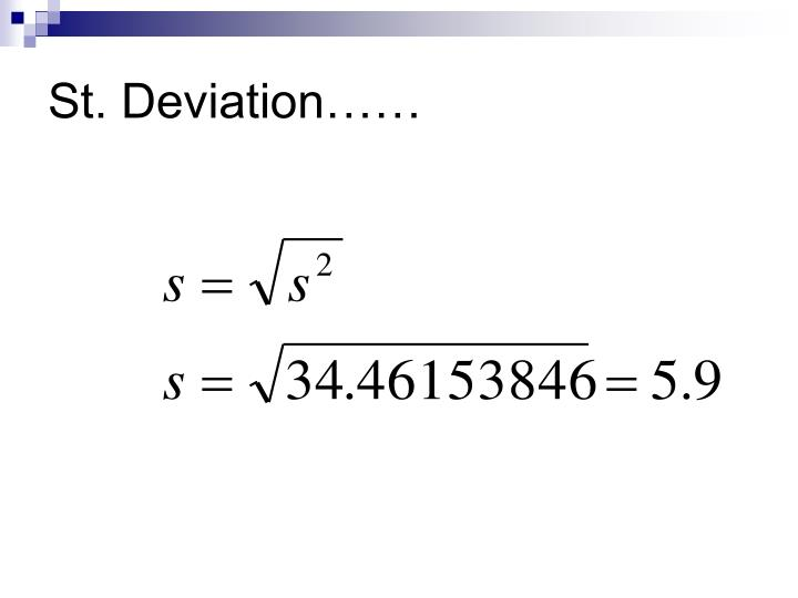 St. Deviation……