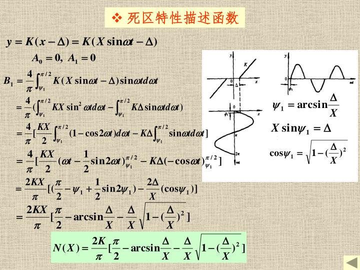 死区特性描述函数