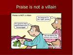 praise is not a villain